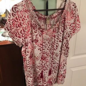 Cute Lucky peasant style tunic